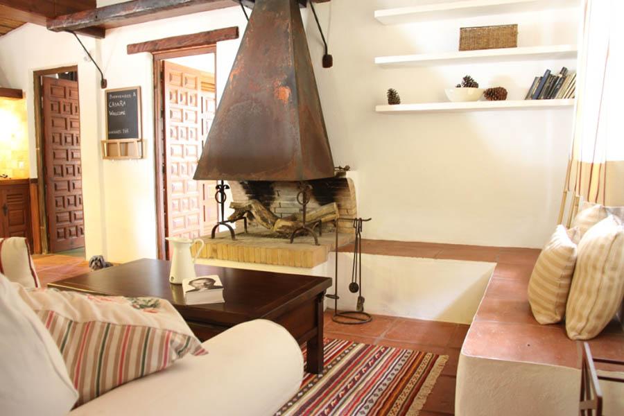 Interior de casas rurales con encanto